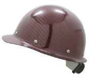 CC™ Carbon/Red Kevlar® Hard Hat : Cap Style