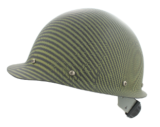 CC™ Carbon/Yellow Kevlar® Hard Hat : Cap Style
