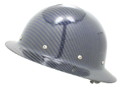 CC™ Carbon/Blue Kevlar® Hard Hat : Full Brim