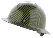 CC™ Carbon/Yellow Kevlar® Hard Hat : Full Brim