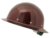 CC™ Carbon/Red Kevlar® Hard Hat : Full Brim