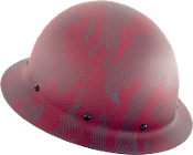 NEW Camouflage CC™ Carbon/Red Kevlar® Hard Hat : Full Brim