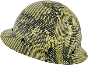 NEW Camouflage CC™ Carbon/Yellow Kevlar® Hard Hat : Full Brim