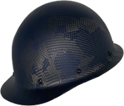 NEW Camouflage CC™ Carbon/Blue Kevlar® Hard Hat : Cap Style