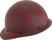 NEW Camouflage CC™ Carbon/Red Kevlar® Hard Hat : Cap Style