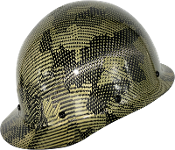 NEW Camouflage CC™ Carbon/Yellow Kevlar® Hard Hat : Cap Style